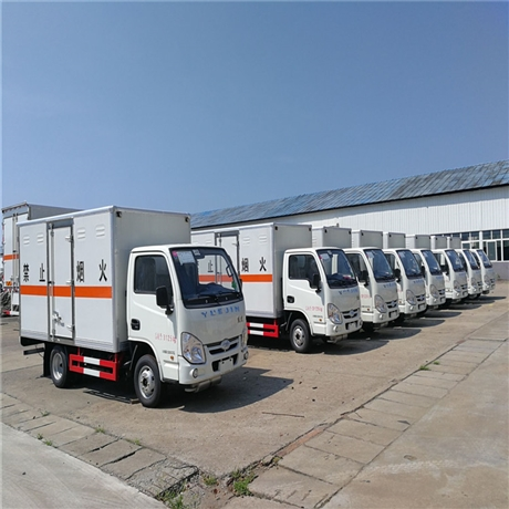 易燃气体厢式运输车价格