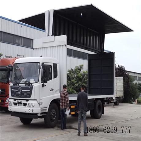 东风天锦飞翼车厂家,6米8,7米6飞翼车价格