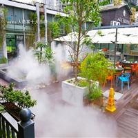 甘肃商业步行街喷雾降温系统,自动化喷雾降温设备