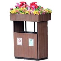 分類垃圾桶花箱鋁合金環衛垃圾箱