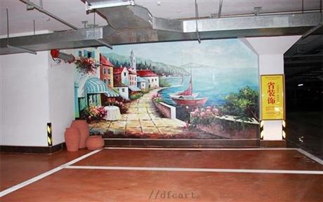 上海苏州南京车库涂鸦彩绘1墙体彩绘上门服务