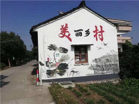 江苏美丽乡村墙绘qianghui1 大副外墙手绘壁画可定制