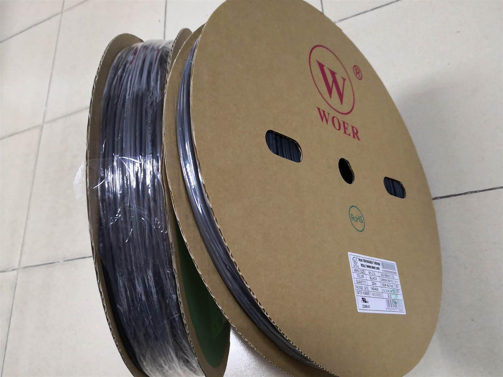 3.2mm,6.4mm,4.8mm,25.4mm,40mm白色,透明高收缩双壁管