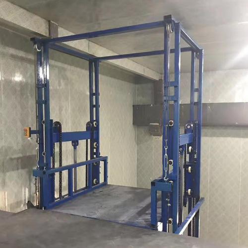亚林1.5吨货物升降机 12米仓储升降货梯 3层4层液压货梯升降机