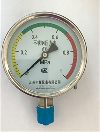 YB不锈钢压力表 YN耐震压力表