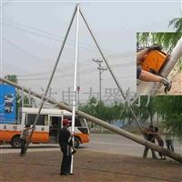 铝合金立杆机,电线杆立杆机,12米15米分体三脚架立杆机 全国发货