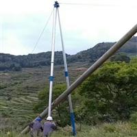 铝合金立杆机山区丘陵立杆机,三脚架立杆机 10-15米立杆机厂家