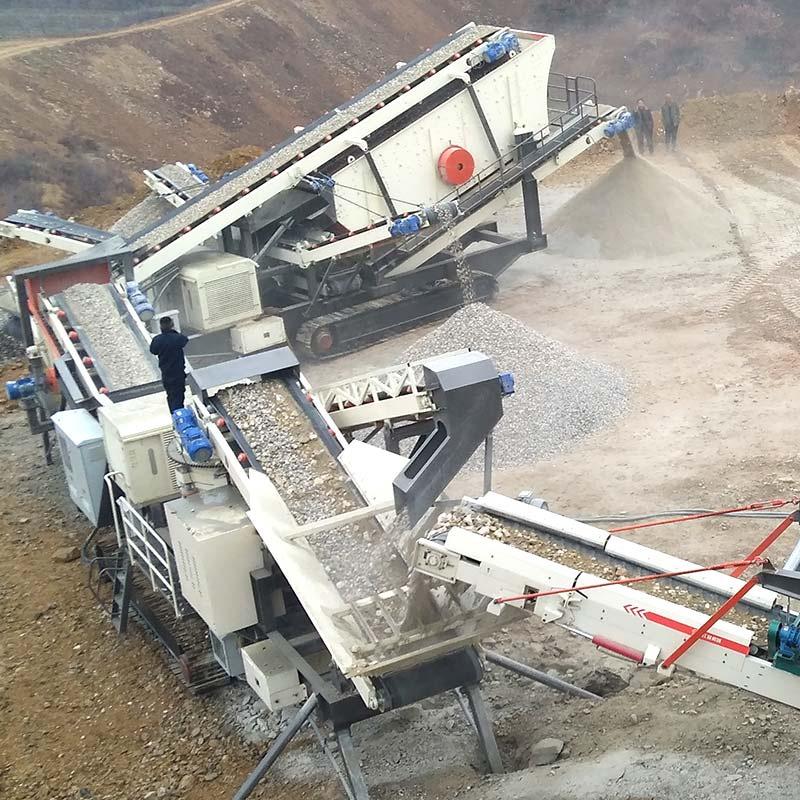 砂石骨料生產線 200噸石頭破碎機 人工砂石料生產線