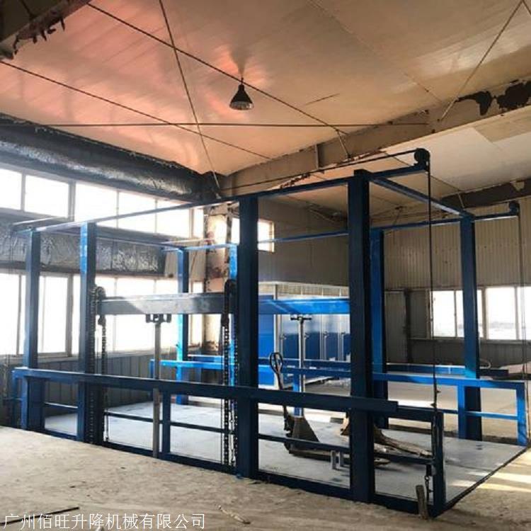 工厂仓库用无机房液压货梯