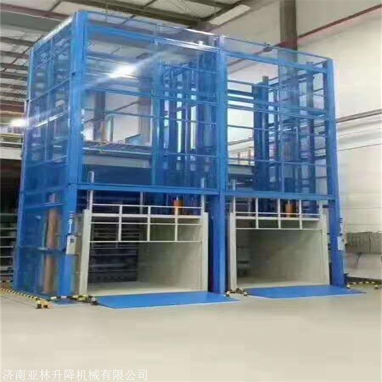 潍坊3.5吨运货液压升降机 9米升降货梯价格 亚林升降平台品牌厂家