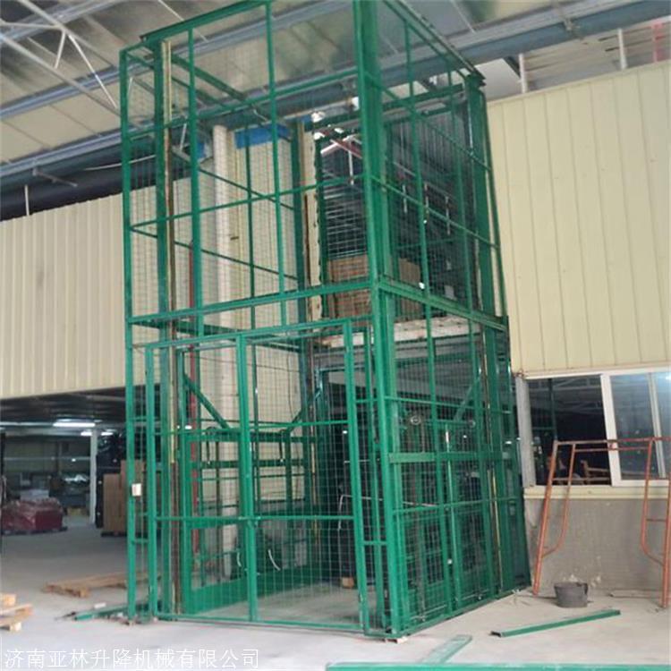 泰安6吨升降机 10米3层运货升降平台 车间固定升降货梯亚林定制