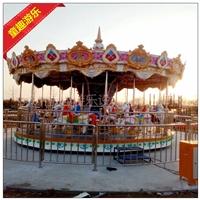 兒童升降旋轉木馬 兒童主題樂園設備