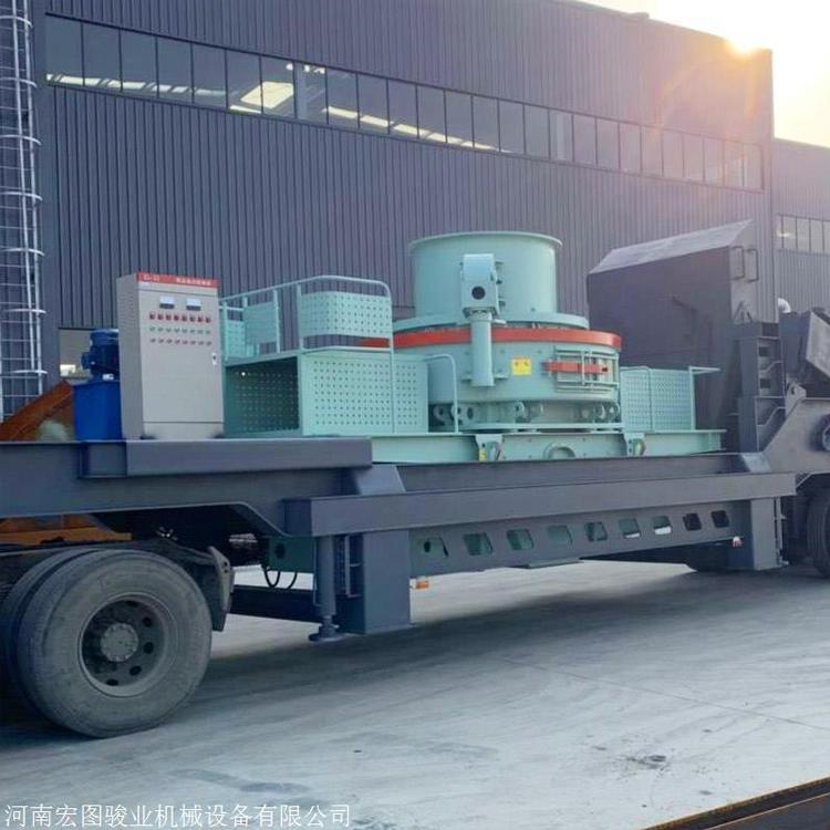 订做宏图骏业 小型石头制砂机 制砂机耐磨件 石打石制砂机