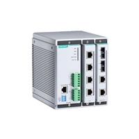 摩莎EDS-608/EDS-608-T模块化设计,支持 4 端口电口/光纤组合