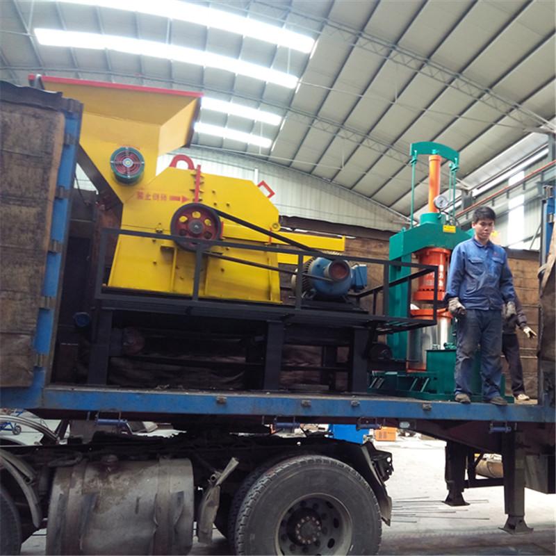 废机油滤芯回收加工 机油滤芯粉碎机 铁纸油自动分离设备