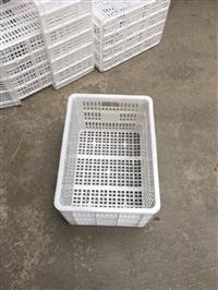 白色塑料筐 食品級全新料塑料周轉筐