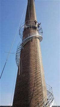 烟囱爬梯平台拆除更换安装
