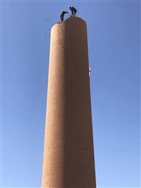 水泥烟囱旋转爬梯平台安装