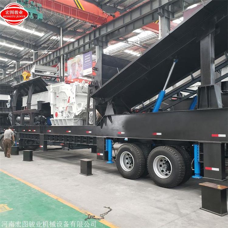 砂石生产设备 一台碎石机20万 反击式移动破碎站设备