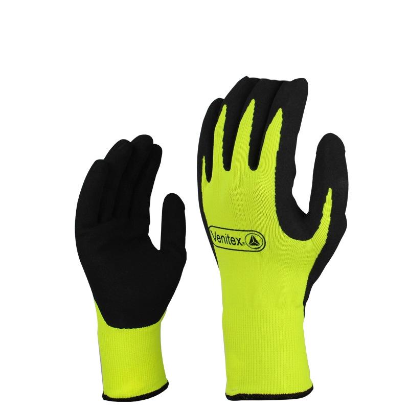 代尔塔 乳胶发泡涂层防寒手套 201753 在寒冷的环境下有效保持双手的温暖,防水,防滑