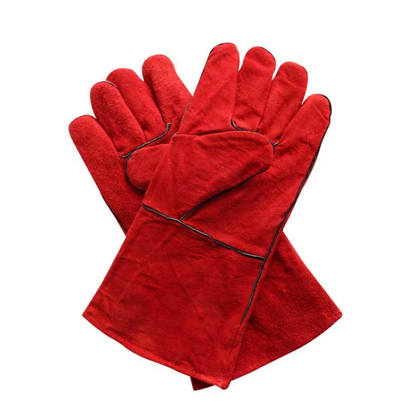 汉盾 红色牛皮电焊手套(掌布内衬) HD-DR2022