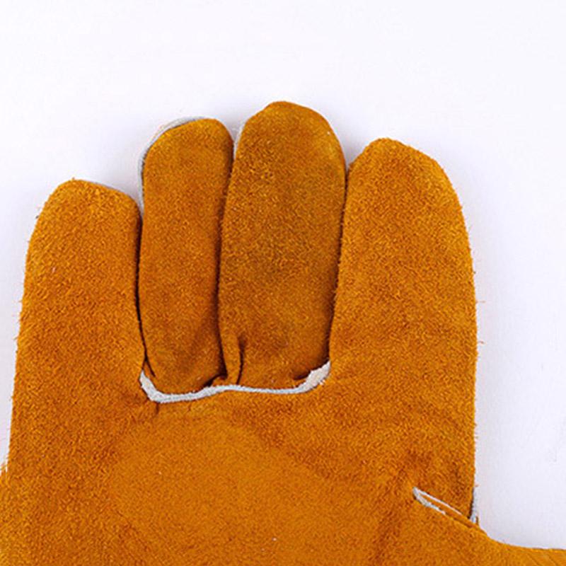 焊卫 金黄色护掌烧焊手套 14寸/16寸/18寸 HW-5085