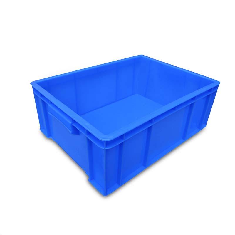 羽佳 长方形物料周转箱 蓝色650*410*155 2号