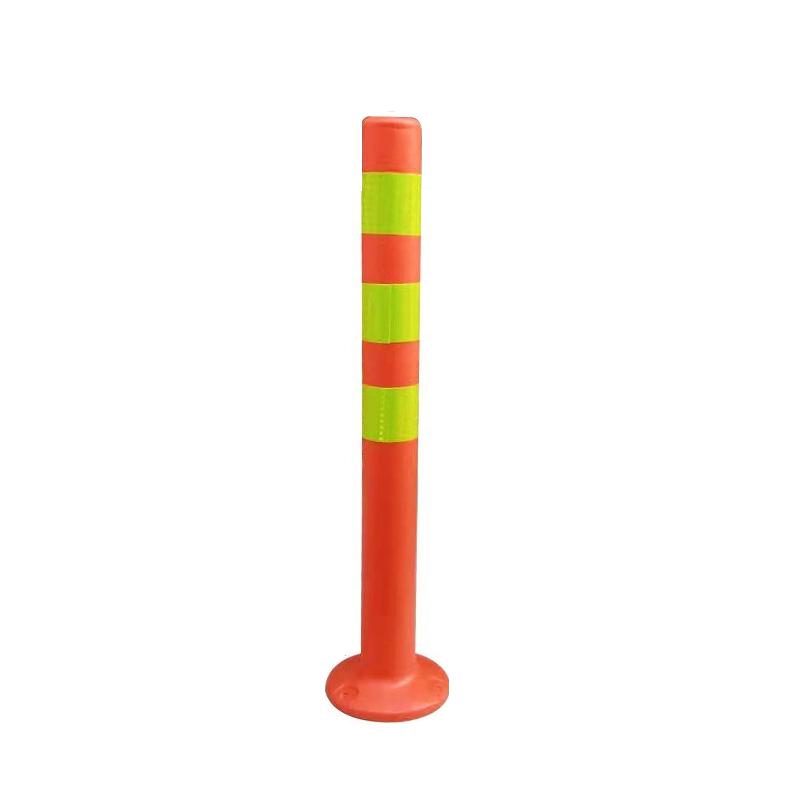 岭上 警示柱 塑料(带反光);红黄;高度700mm;直径60mm;底座直径190mm