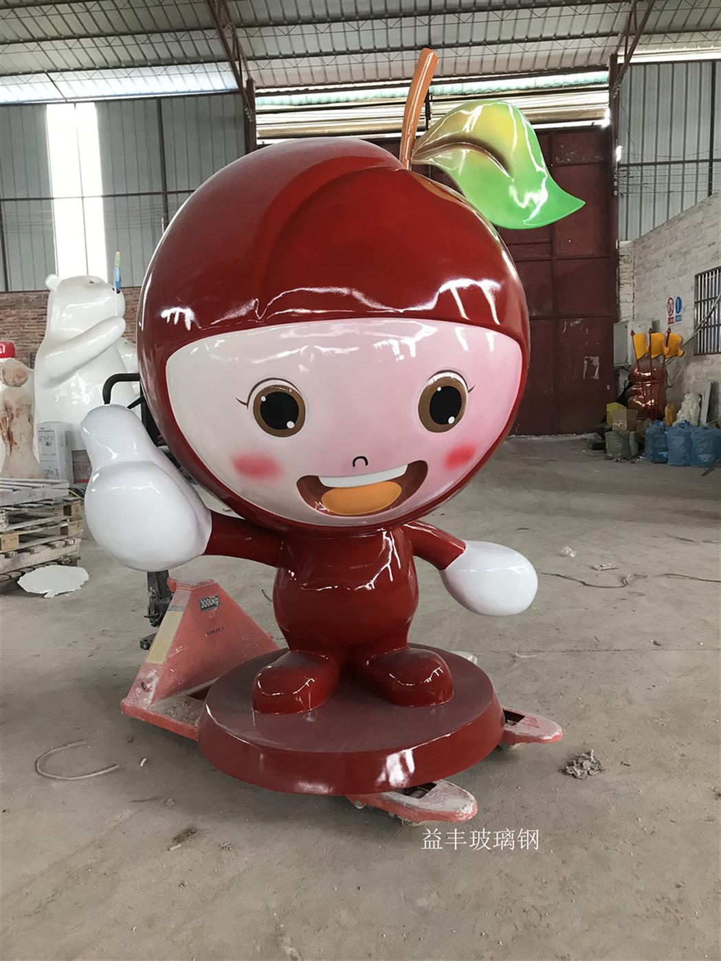 玻璃鋼卡通水果雕塑廠家 玻璃鋼主題雕塑 好品牌值得選購