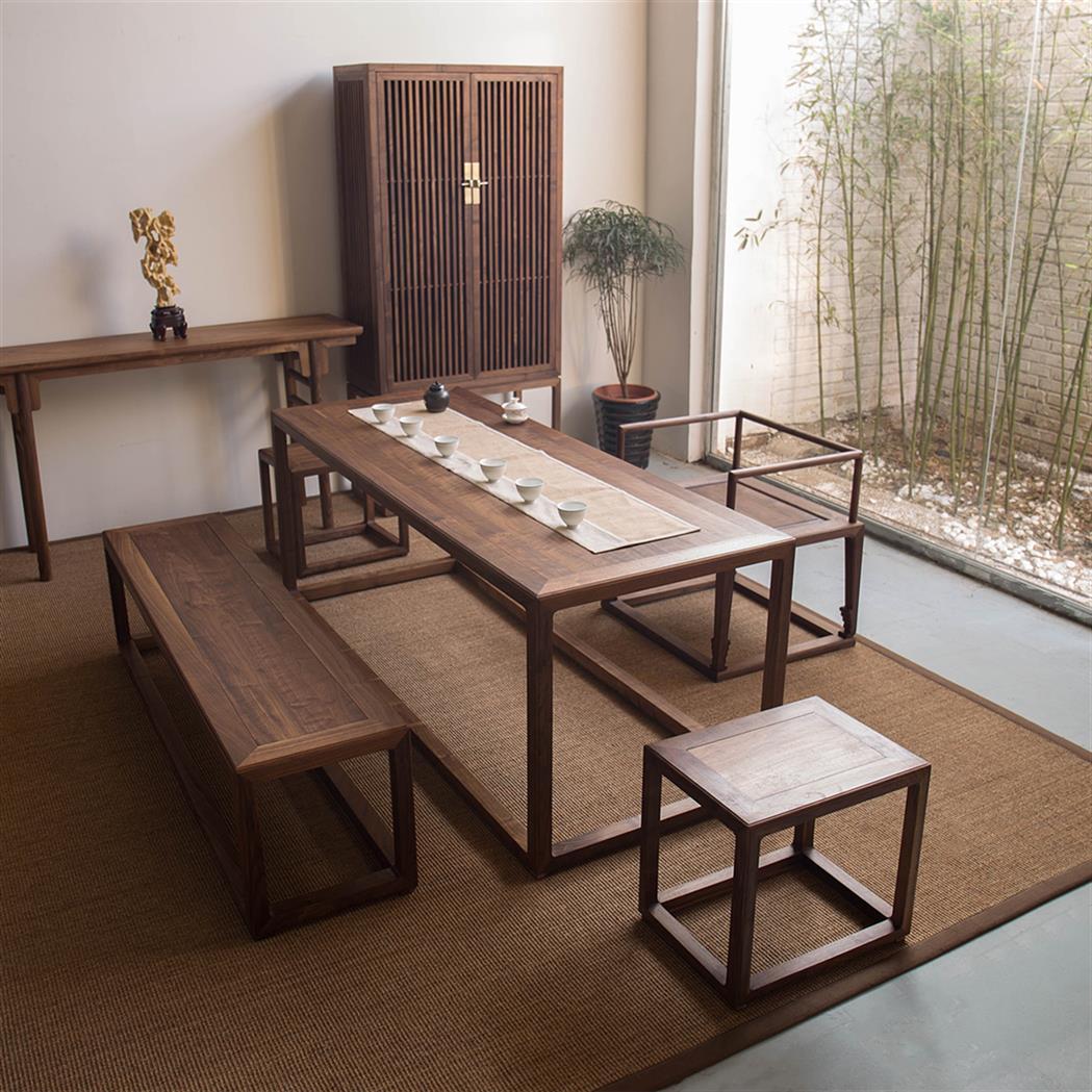 廣州老榆木茶幾定制 新中式沙發茶幾 精工打造 質量有保證