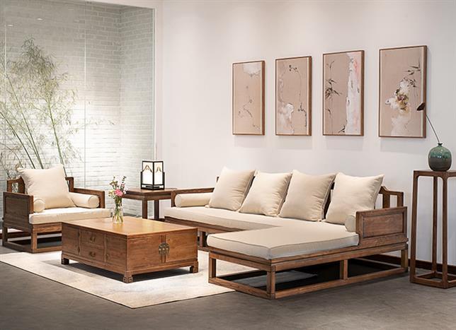 實木家具定制 新中式沙發 歡迎來電了解