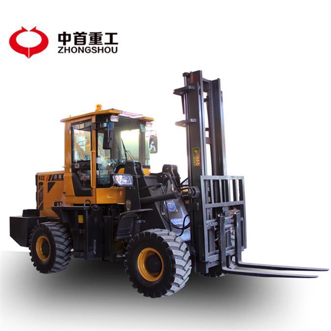 三吨四驱越野叉车 三吨越野叉车 可以加装多种属具