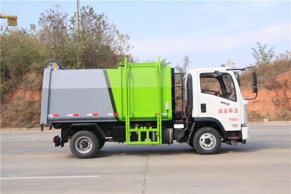 6吨压缩垃圾车价格 宁波质量好的蓝牌垃圾车电话