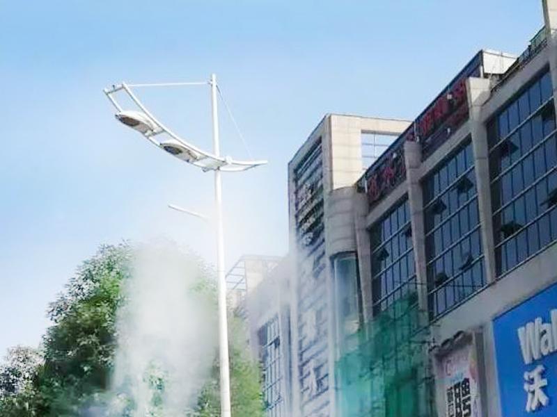 昆明环保灯杆除霾设备 泉州高压细水雾除霾系统 欢迎来电垂询