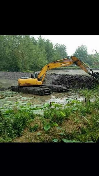 清淤挖掘机械设备租赁 水陆挖掘机租赁报价 机械直销还是看这里