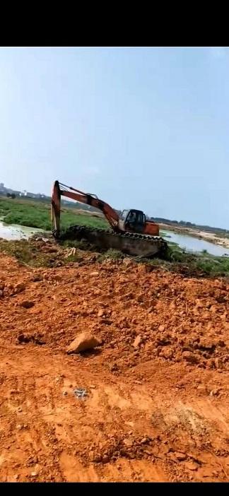清淤挖掘机械设备租赁 水上挖机出租 机械优质且靠谱