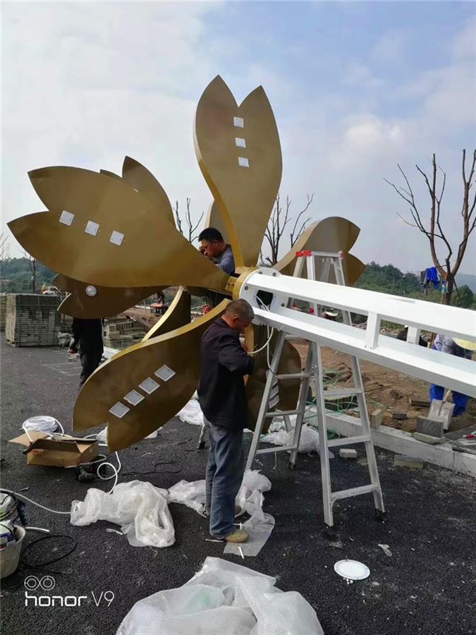 潼南太阳能景观灯 贵州15米9火玉兰灯 在线咨询立享优惠