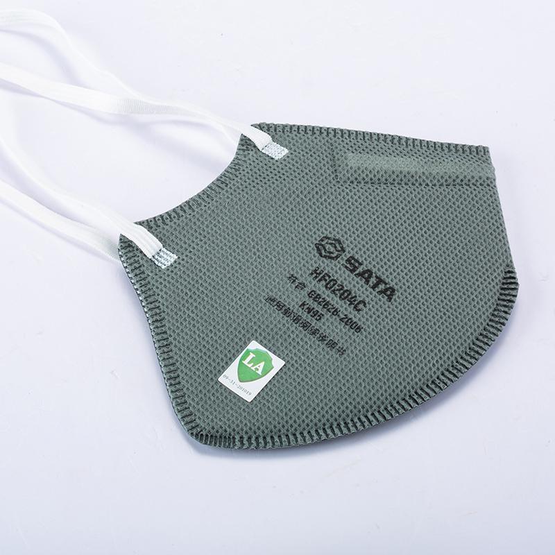 头戴式KN95活性炭折叠口罩,