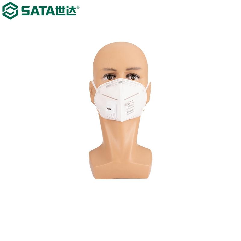 世达SATA 防尘口罩,HF0101V,防PM2.5耳带式带阀