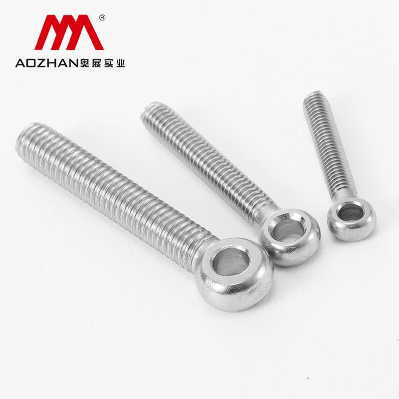 奥峰 GB798活节螺丝,M10-1.5X100,半牙,不锈钢304,50只/包