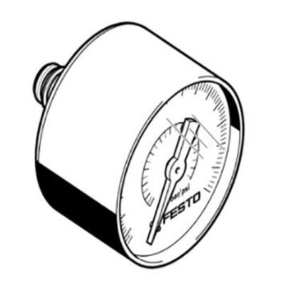 费斯托FESTO 压力表,PAGN-40-1M-G18,8001503