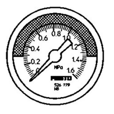 费斯托FESTO 压力表,R1/4,0至1Mpa,MA-50-1,0-R1/4-MPA-E-RG,526781