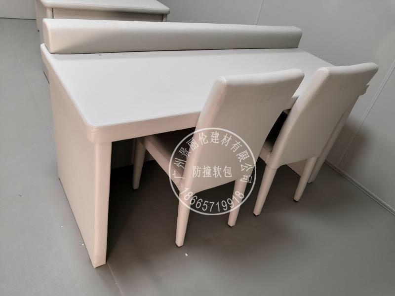 拘留所防撞家具 讯问室软包桌子生产加工