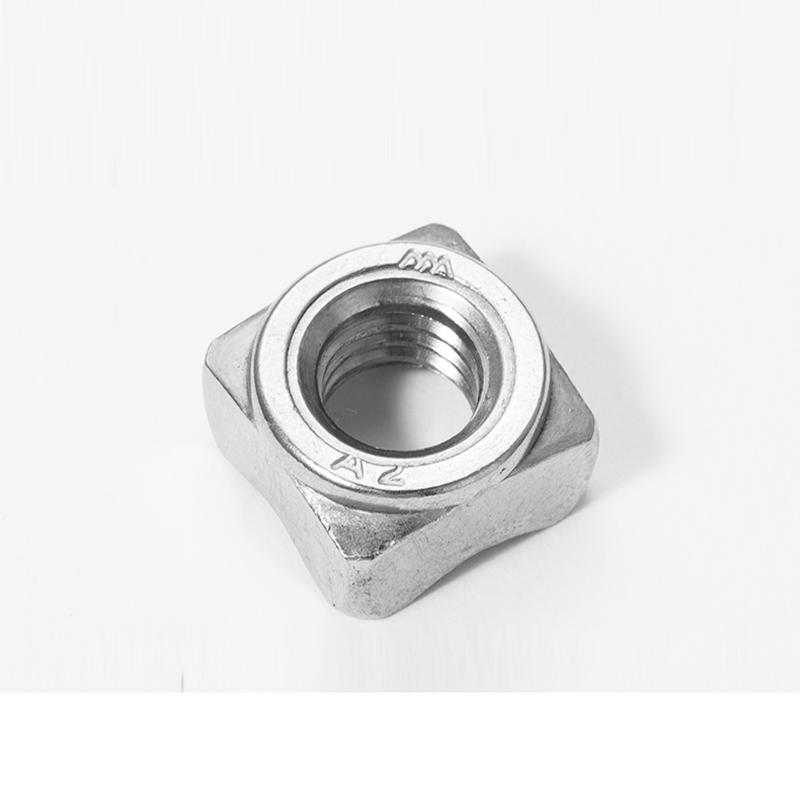 东明 DIN928四方焊接螺母,M8-1.25,不锈钢304,强度A2-70,50个/包