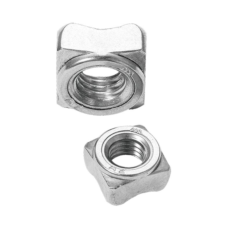 四方焊接螺母,DIN928,M5,不锈钢A2,1300个/包