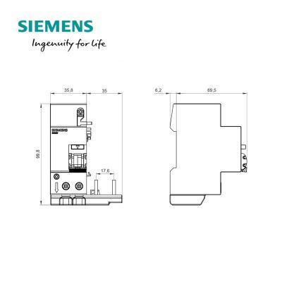 西门子SIEMENS 5SM9 5SN4/5SL4专用漏电保护附件 0.3-40A/3P/300mA AC型,5SM96330