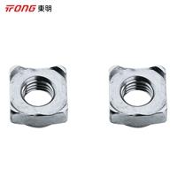 东明 DIN928四方焊接螺母,M6-1.0,不锈钢304,强度A2-70,100个/包  DIN928四方焊接螺母,M6-1.0,强度A2-70
