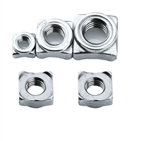 东明 DIN928四方焊接螺母,M5-0.8,不锈钢304,强度A2-70,100个/包  DIN928四方焊接螺母,M5-0.8,强度A2-70