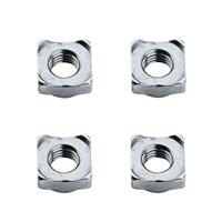 东明 DIN928四方焊接螺母,M4-0.7,不锈钢304,强度A2-70,100个/包  DIN928四方焊接螺母,M4-0.7,强度A2-70