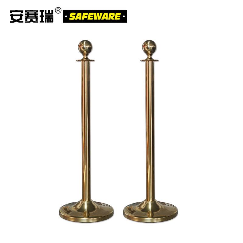 礼宾围栏隔离柱-不锈钢镀钛金,高1000mm,立柱Φ51mm,底盘Φ320mm,14507(不含绳子)